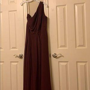 One strap wedding dress